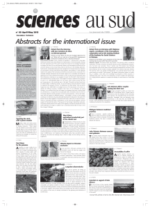 Abstracts for the international issue
