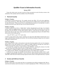 Qualifier Exam in Information Security Spring 2009
