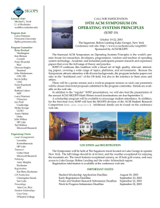 SIGOPS 19TH ACM SYMPOSIUM ON OPERATING SYSTEMS PRINCIPLES (SOSP-19)