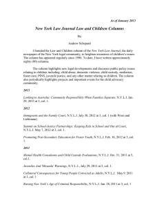New York Law Journal Law and Children Columns