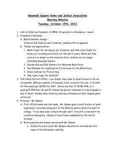 Gwynedd Square Home and School Association Meeting Minutes Tuesday, October 15th, 2013
