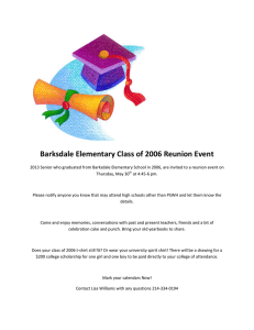 Barksdale Elementary Class of 2006 Reunion Event