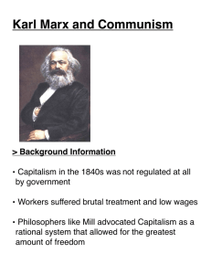 Karl Marx and Communism