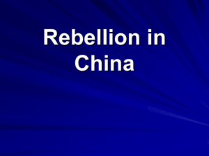 Rebellion in China