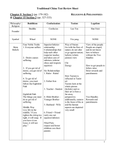 Traditional China Test Review Sheet Chapter 8  Section 1  R