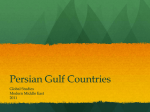 Persian Gulf Countries Global Studies Modern Middle East 2011