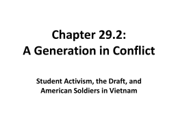 Chapter 29.2: A Generation in Conflict Student Activism, the Draft, and