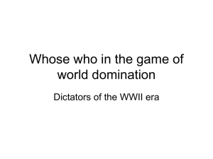 Whose who in the game of world domination