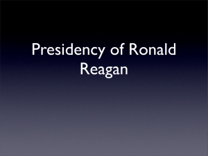 Presidency of Ronald Reagan