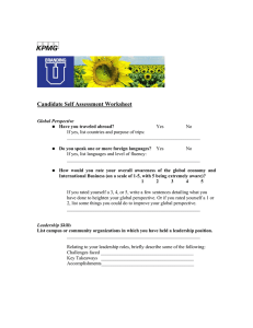kpmg  Candidate Self Assessment Worksheet