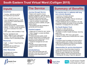 The Service Summary of Benefits Inputs South Eastern Trust Virtual Ward (Colligan 2015)