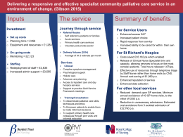 Delivering a responsive and effective specialist community palliative care service... environment of change. (Gibson 2015)