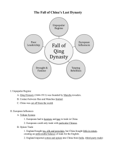 Fall of Qing Dynasty The Fall of China's Last Dynasty