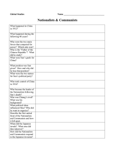 Nationalists & Communists