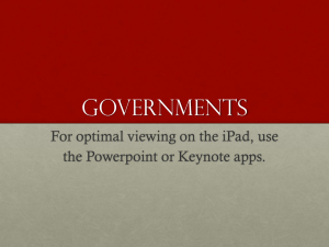Governments For optimal viewing on the iPad, use