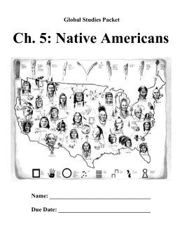 Ch. 5: Native Americans