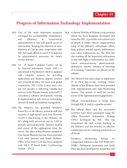 Progress of Information Technology Implementation Chapter-14
