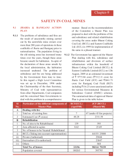 Chapter-9 SAFETY IN COAL MINES