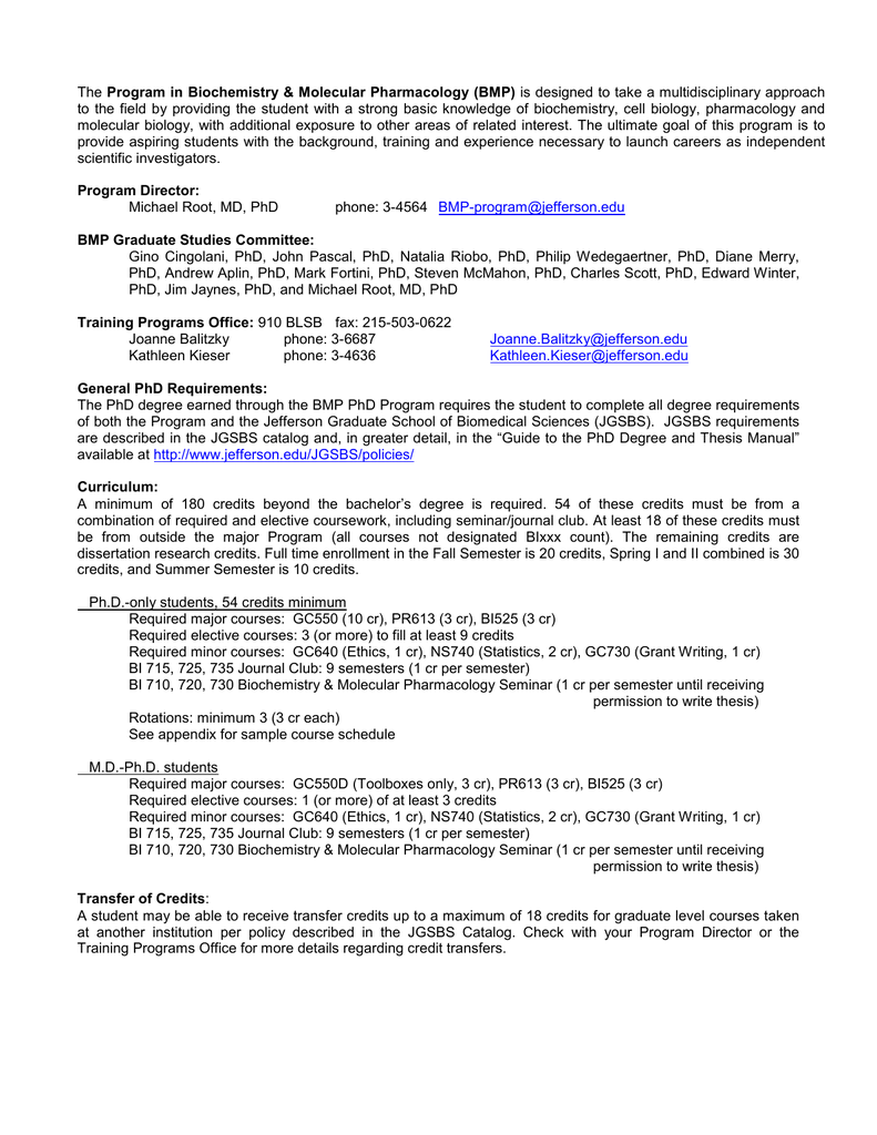 Program in Biochemistry & Molecular Pharmacology (BMP)