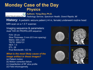 Monday Case of the Day Physics History: Imaging sequence & parameters