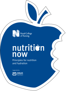 Principles for nutrition and hydration Supported by