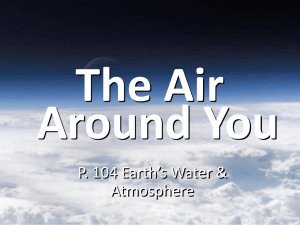 The Air Around You P. 104 Earth's Water & Atmosphere