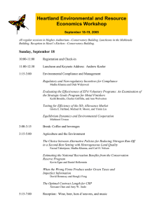Heartland Environmental and Resource Economics Workshop September 18-19, 2005