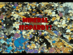 Mineral Jeopardy!