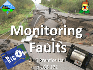 Monitoring Faults CH 5 Prentice Hall p.168-171