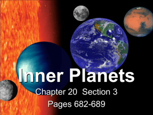 Inner Planets Chapter 20  Section 3 Pages 682-689