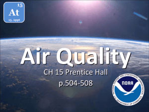 Air Quality At CH 15 Prentice Hall p.504-508