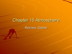 Chapter 15 Atmosphere Review Game