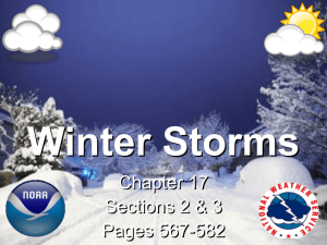 Winter Storms Chapter 17 Sections 2 & 3 Pages 567-582