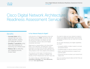 Cisco Digital Network Architecture Readiness Assessment Service Benefits •