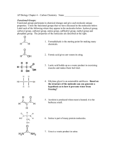 AP Biology Chapter 4 – Carbon Chemistry  Name ______________________________
