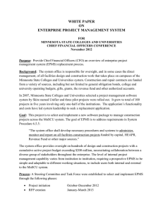 WHITE PAPER ON ENTERPRISE PROJECT MANAGEMENT SYSTEM