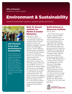 Environment & Sustainability Belle W. Baruch Earth Sciences & Institute for