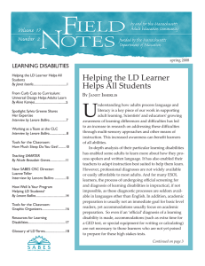 Helping the LD Learner Helps All Students 17 2