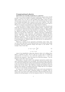 Comptuational physics