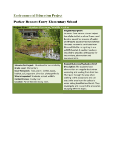 Environmental Education Project Parker Bennett-Curry Elementary School Project Title: