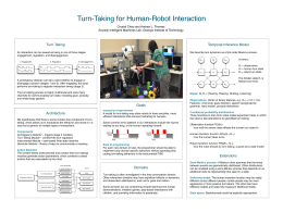 Turn-Taking for Human-Robot Interaction Temporal Inference Model Turn-Taking