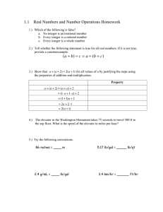 1.1  Real Numbers and Number Operations Homework