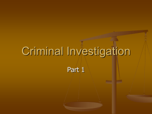 Criminal Investigation Part 1