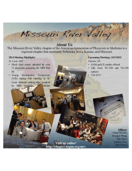 The Missouri River Valley chapter of the American Association of... regional chapter that represents Nebraska, Iowa, Kansas, and Missouri.