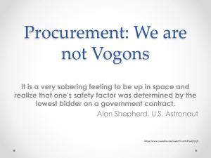 Procurement: We are not Vogons
