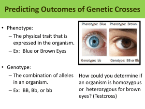Predicting Outcomes of Genetic Crosses