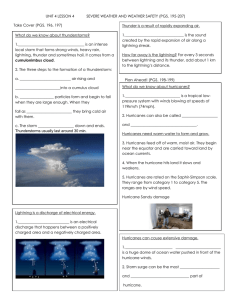 UNIT 4 LESSON 4 SEVERE WEATHER AND WEATHER SAFETY (PGS. 195-207)