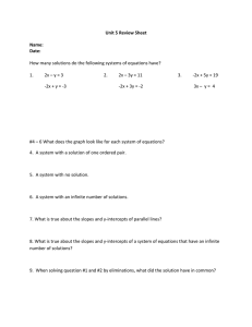 Unit 5 Review Sheet  Name: Date: