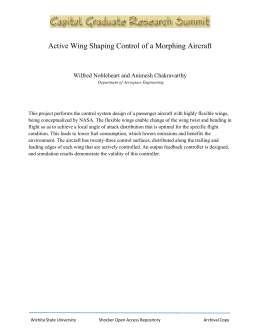 Active Wing Shaping Control of a Morphing Aircraft