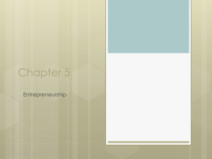 Chapter 5 Entrepreneurship